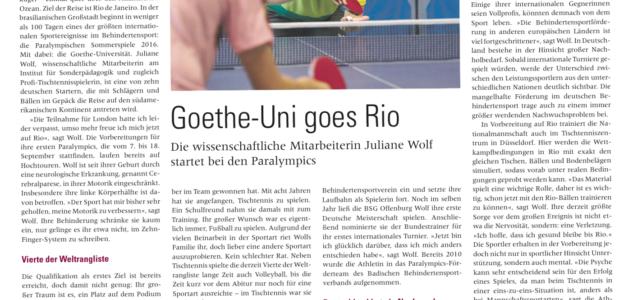 Beitrag im Goethe-Spektrum